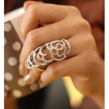 Bague Couvre-doigt strass